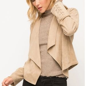 NWT Taupe Faux Suede Jacket by Mystree Brand